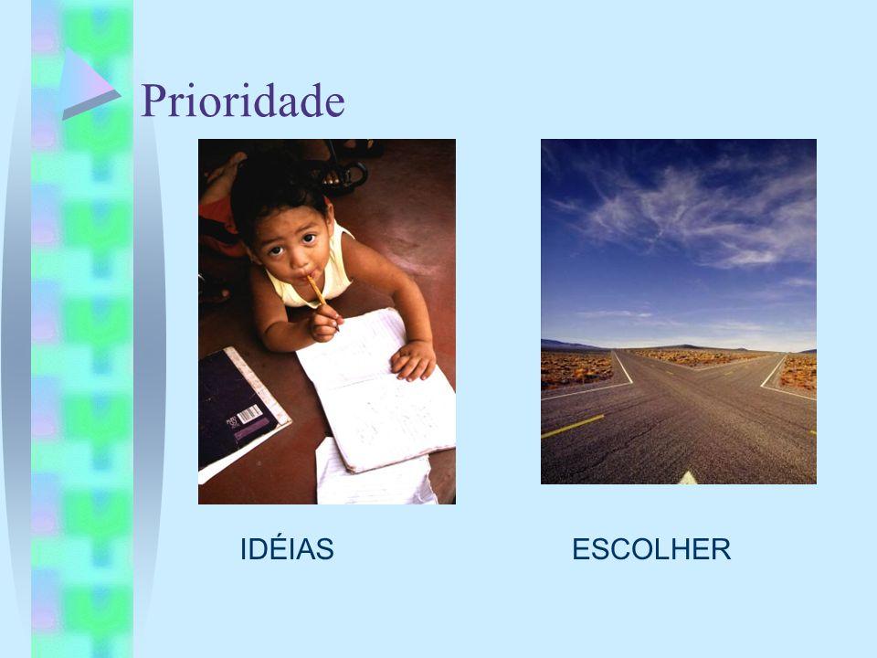 Prioridade IDÉIAS ESCOLHER