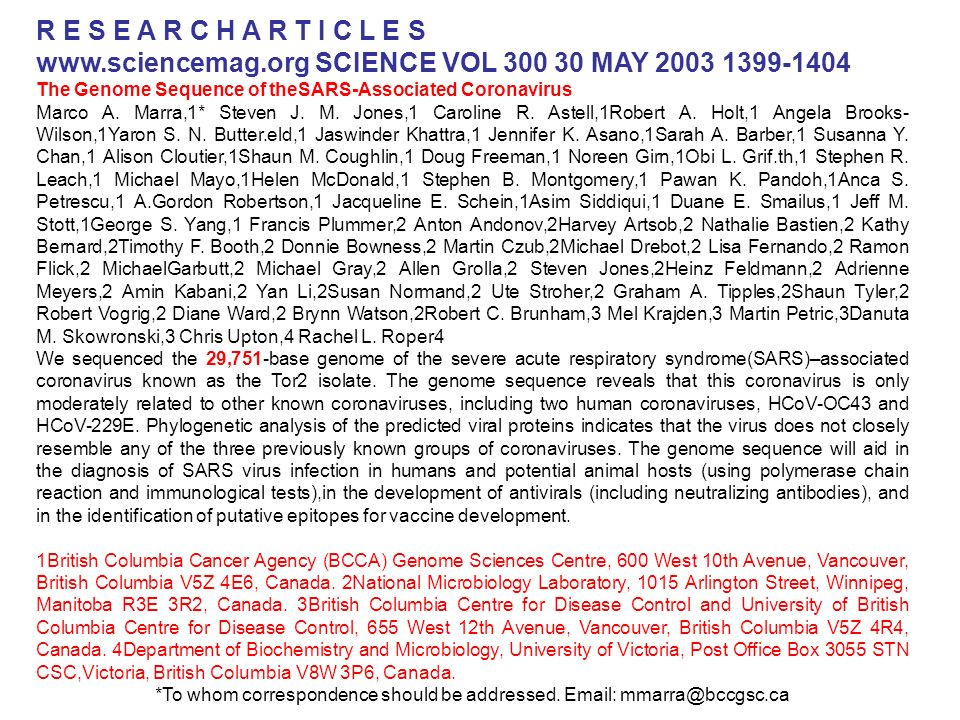 www.sciencemag.org SCIENCE VOL 300 30 MAY 2003 1399-1404