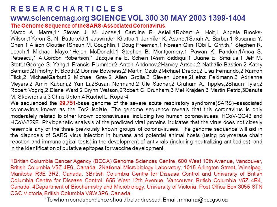 www.sciencemag.org SCIENCE VOL 300 30 MAY 2003 1399-1404