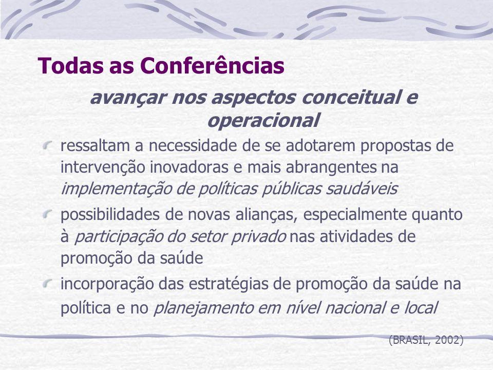 avançar nos aspectos conceitual e operacional