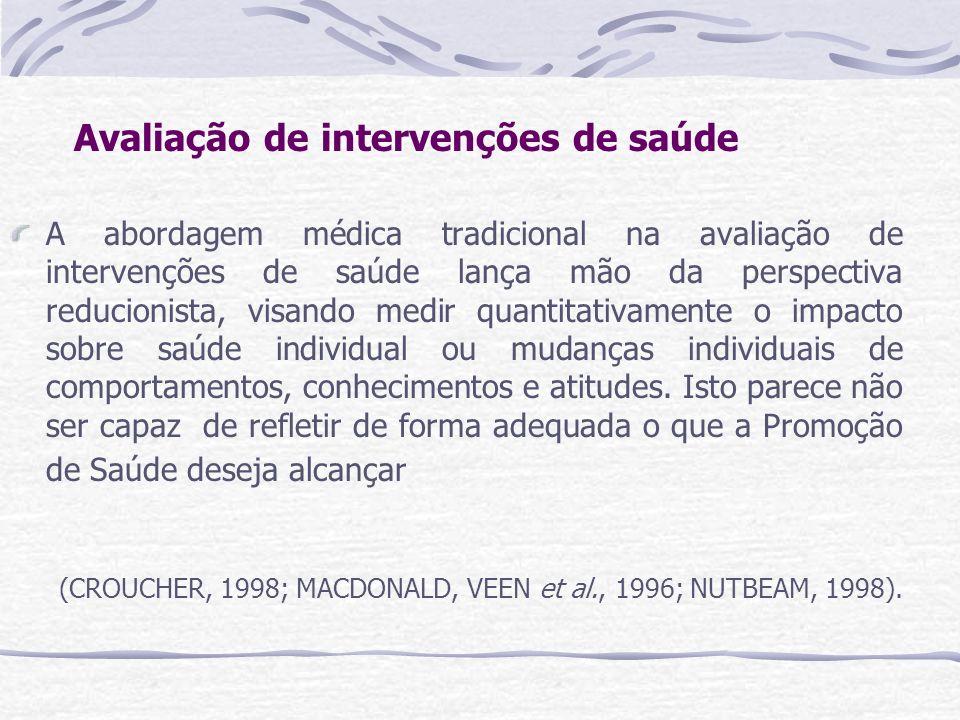 Avaliação de intervenções de saúde