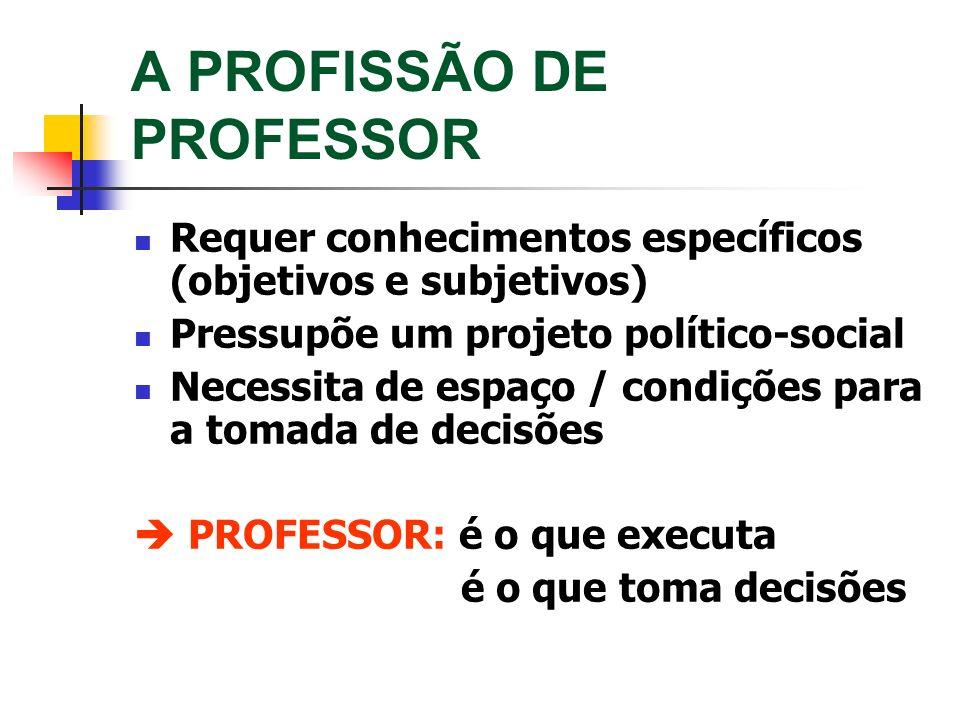 A PROFISSÃO DE PROFESSOR