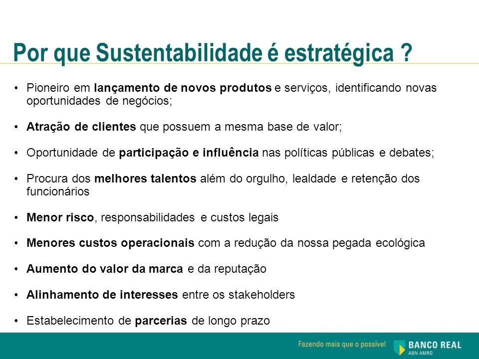 Por que Sustentabilidade é estratégica