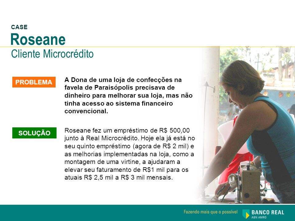 Roseane Cliente Microcrédito