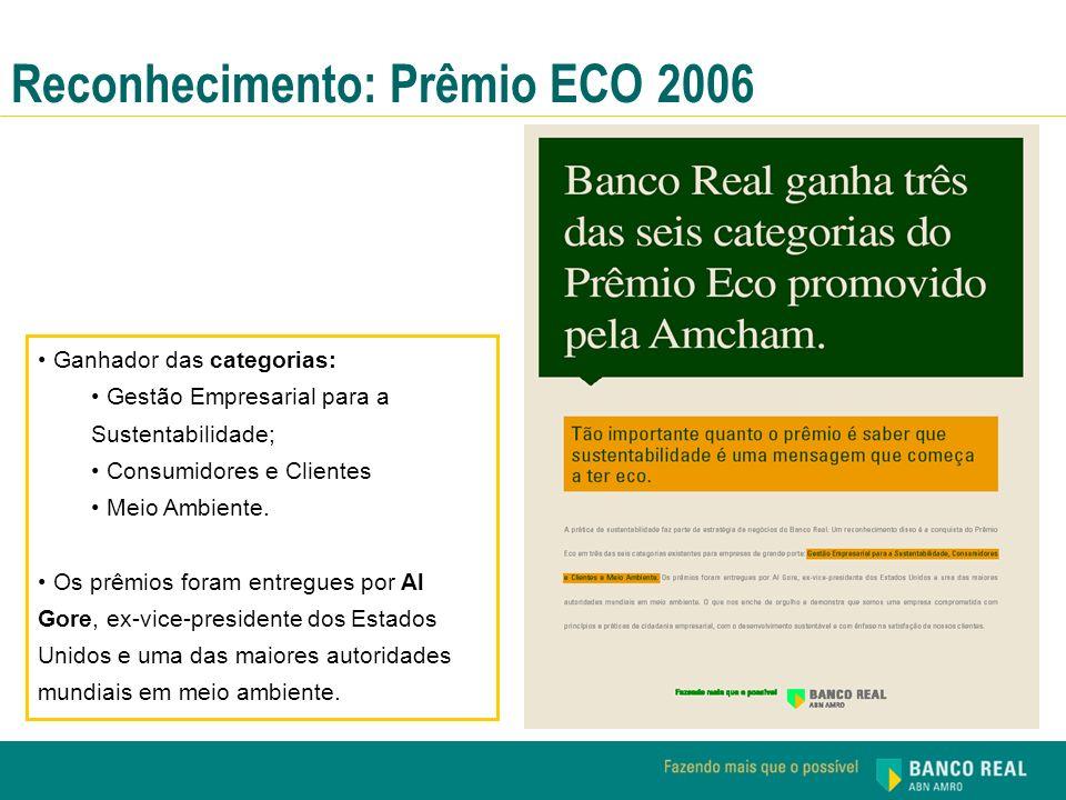 Reconhecimento: Prêmio ECO 2006