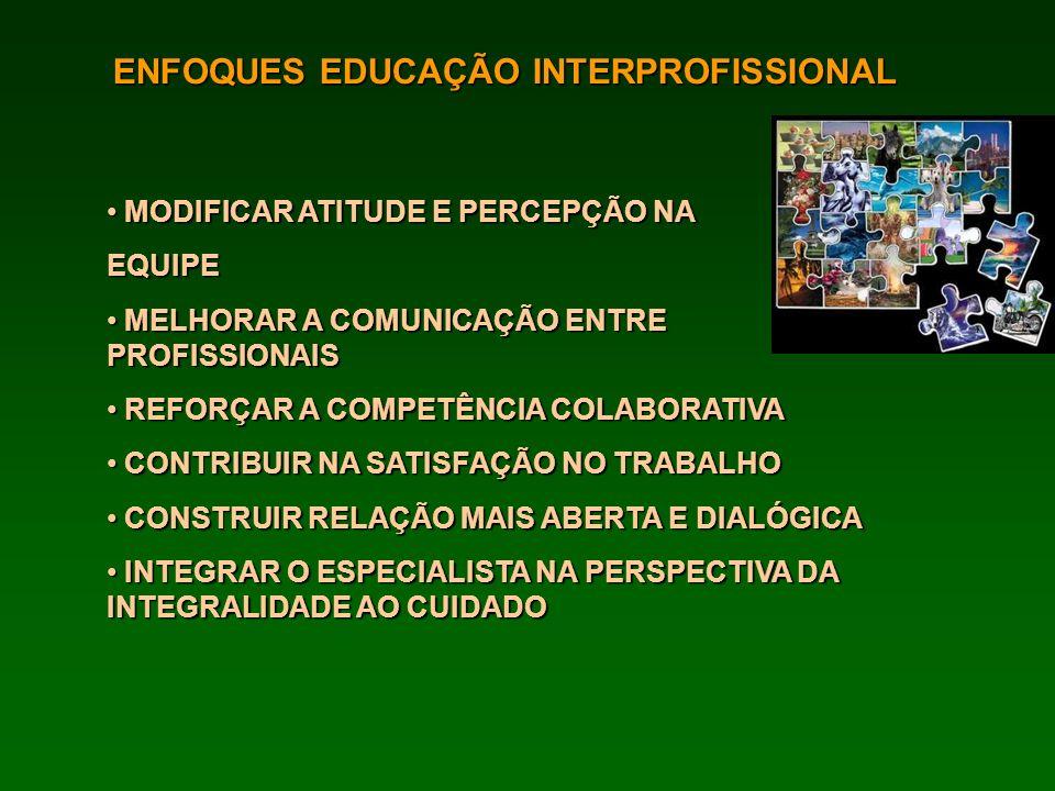 ENFOQUES EDUCAÇÃO INTERPROFISSIONAL