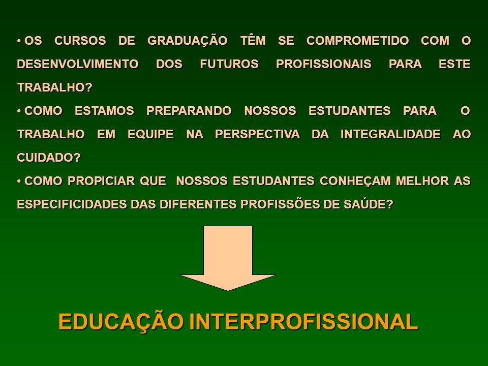EDUCAÇÃO INTERPROFISSIONAL