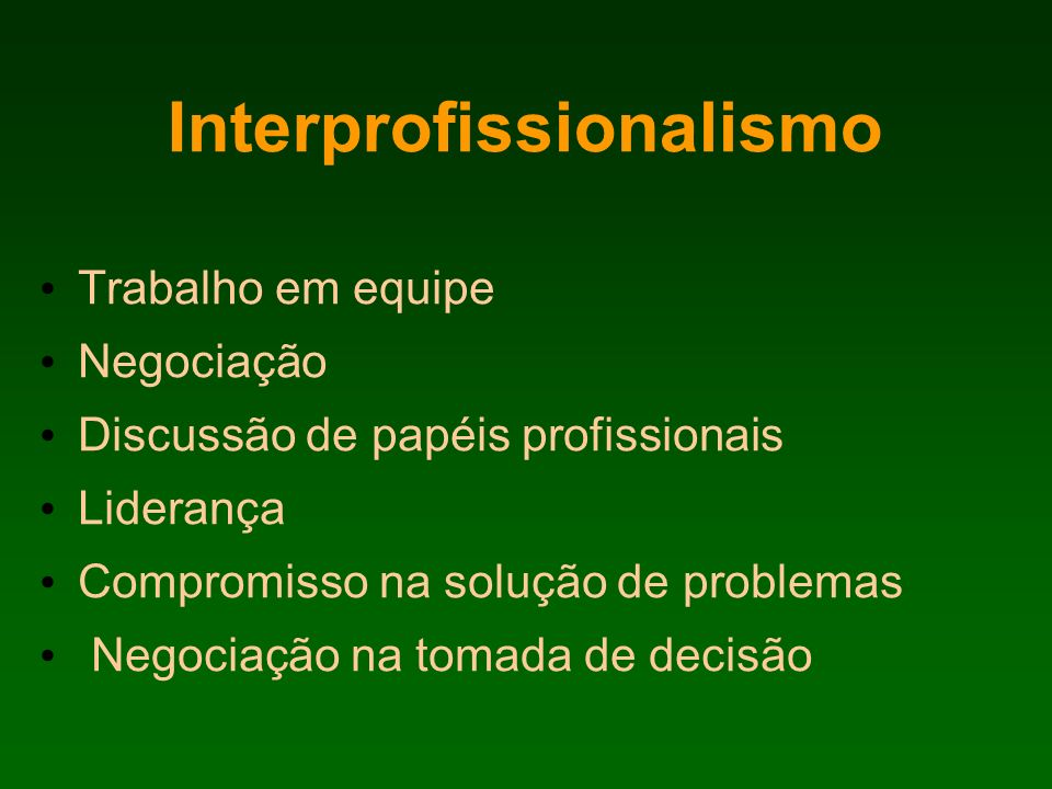 Interprofissionalismo