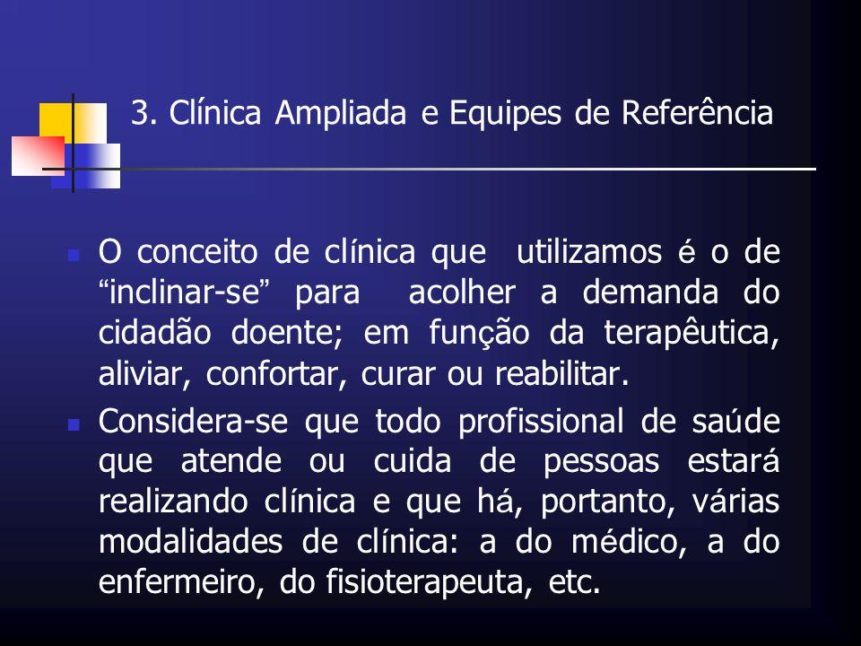 3. Clínica Ampliada e Equipes de Referência