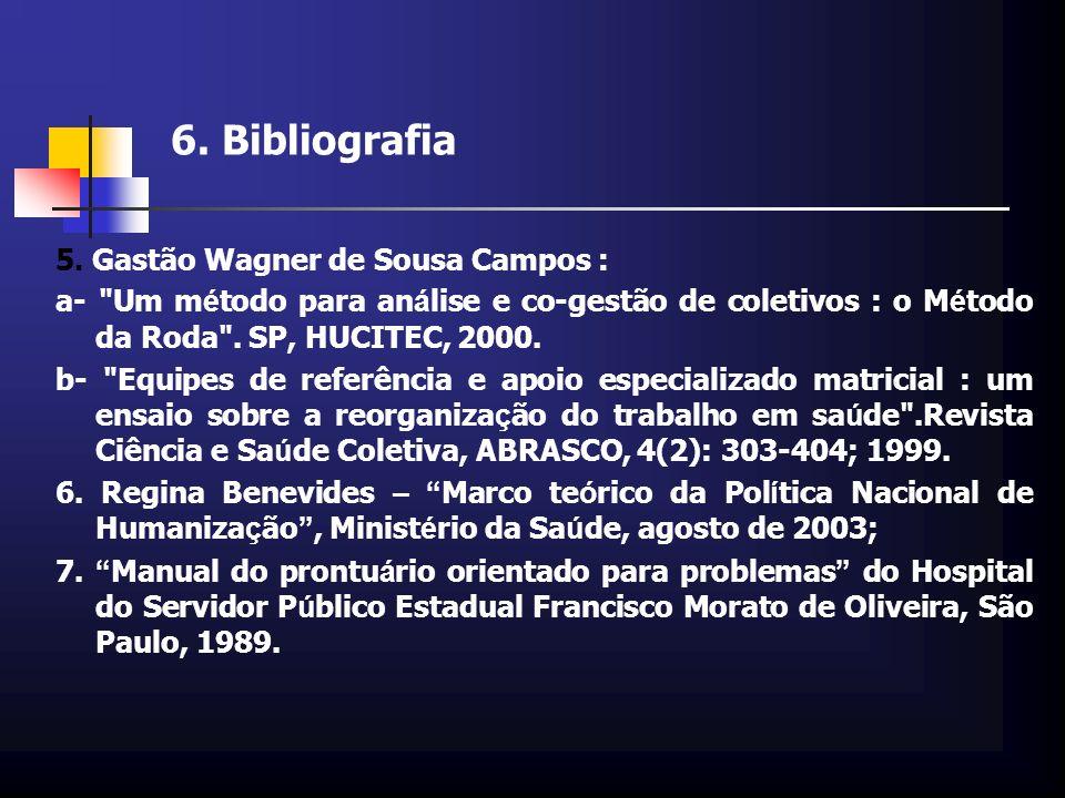 6. Bibliografia 5. Gastão Wagner de Sousa Campos :