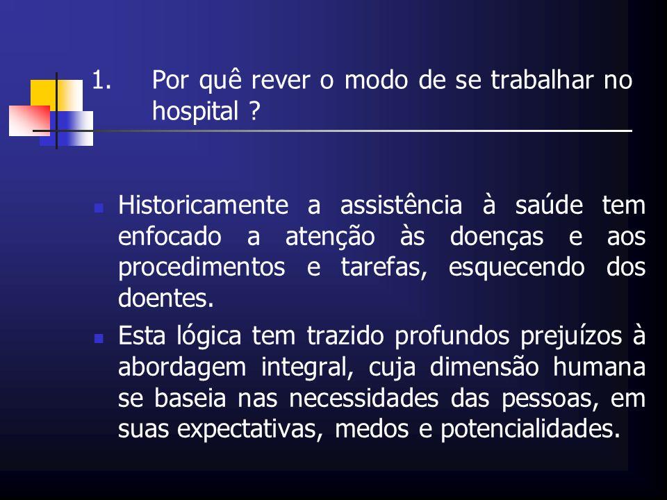 Por quê rever o modo de se trabalhar no hospital