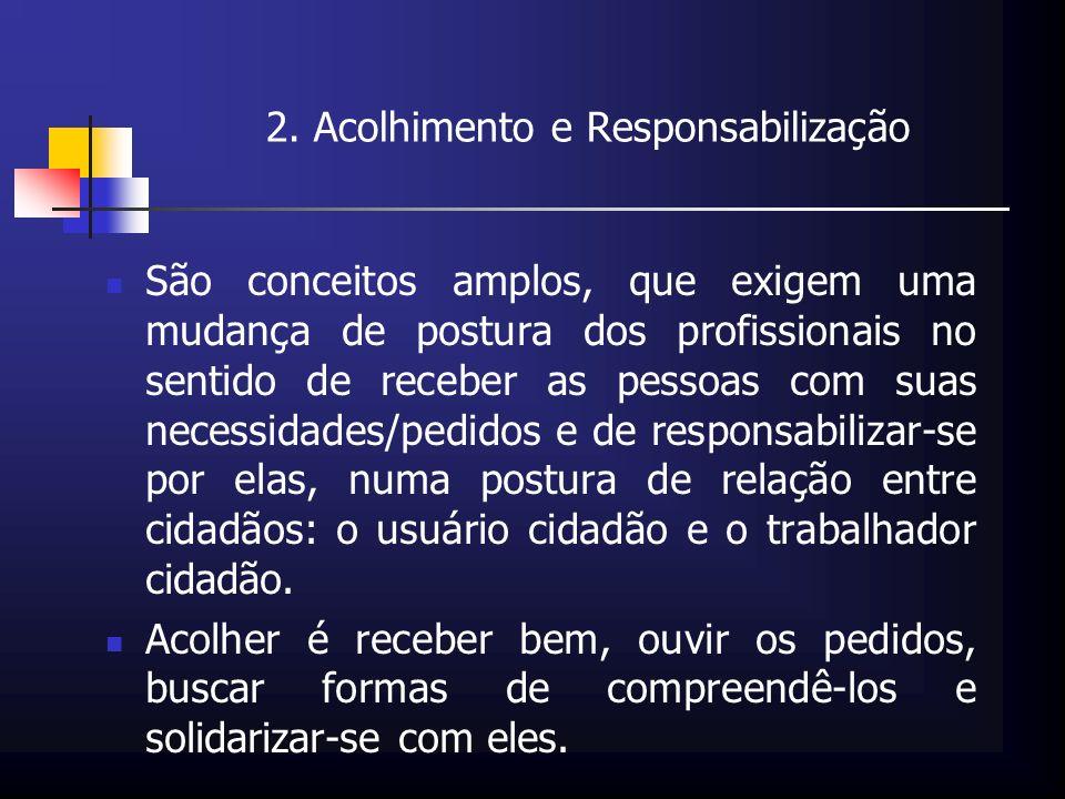 2. Acolhimento e Responsabilização