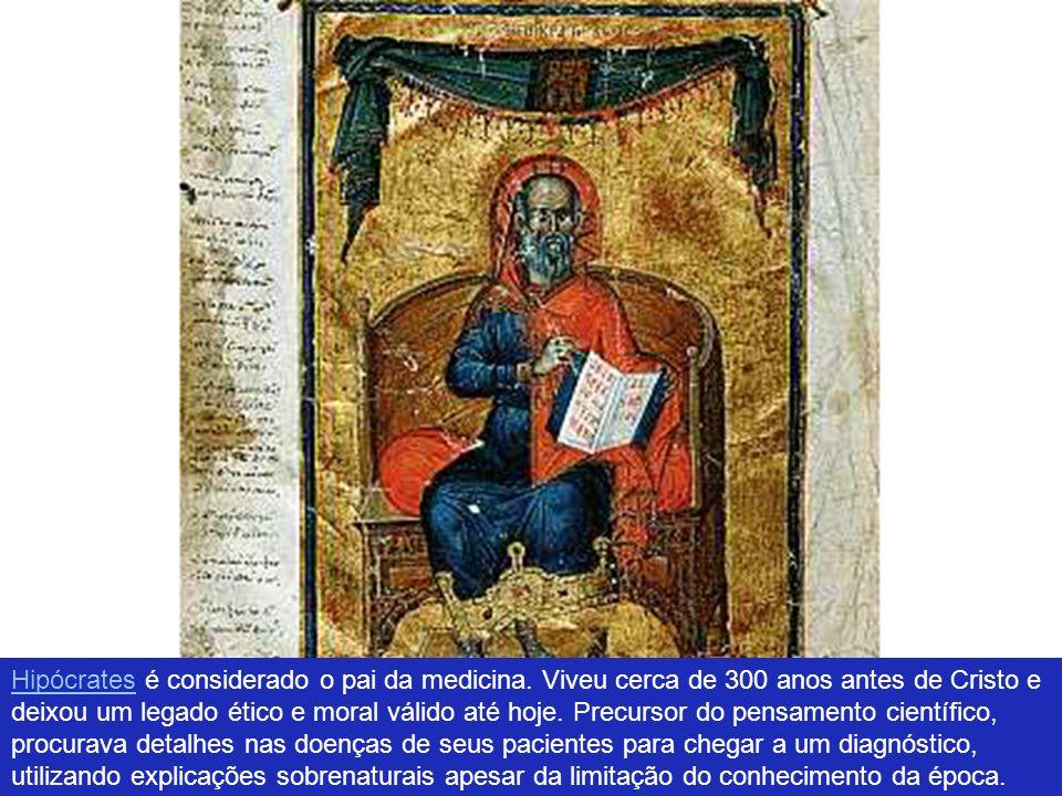 Hipócrates é considerado o pai da medicina