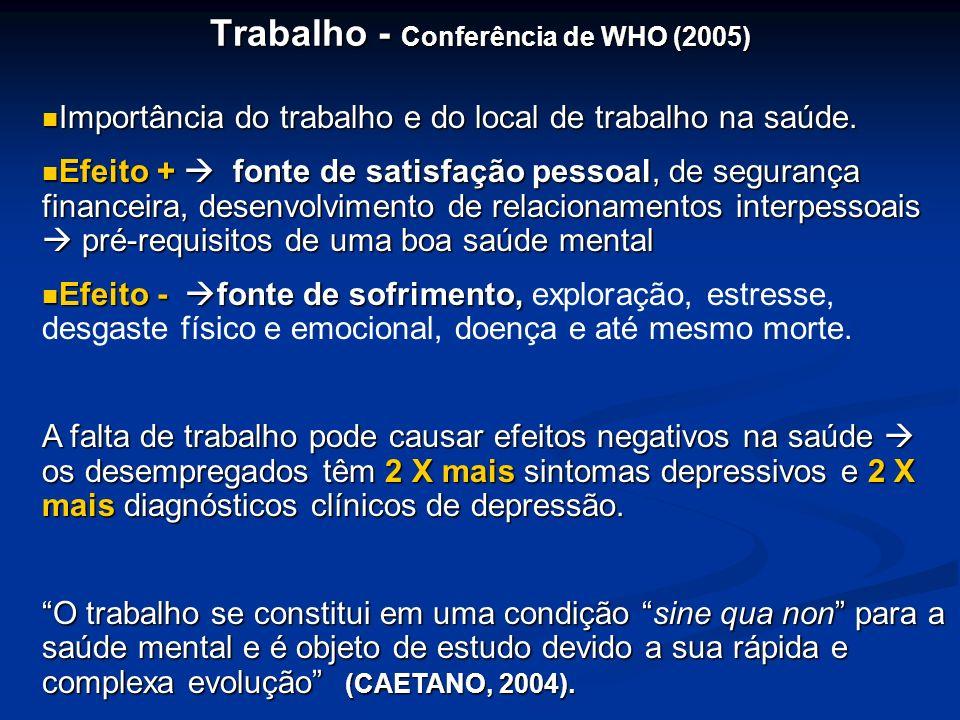 Trabalho - Conferência de WHO (2005)