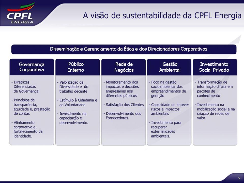 A visão de sustentabilidade da CPFL Energia
