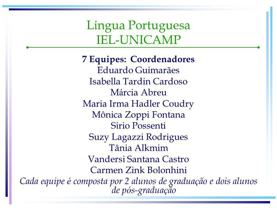 Língua Portuguesa IEL-UNICAMP