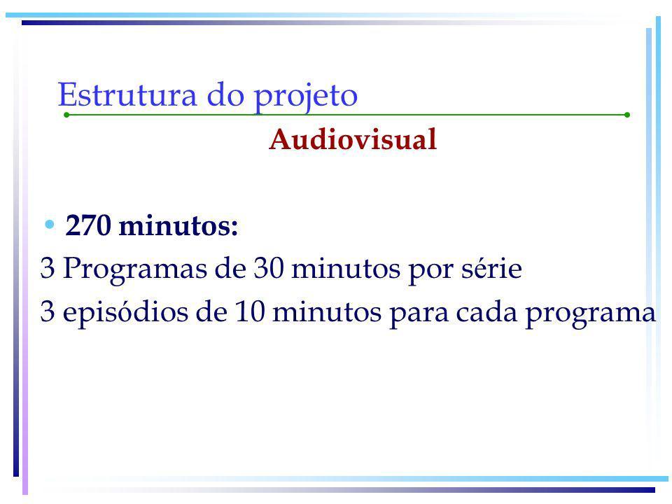 Estrutura do projeto Audiovisual 270 minutos: