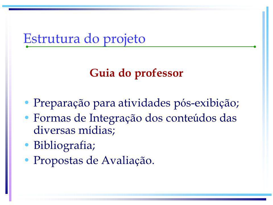 Estrutura do projeto Guia do professor