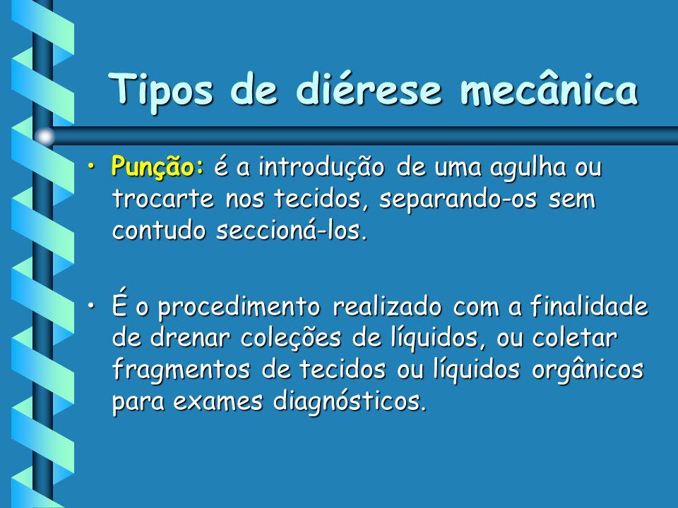 Tipos de diérese mecânica