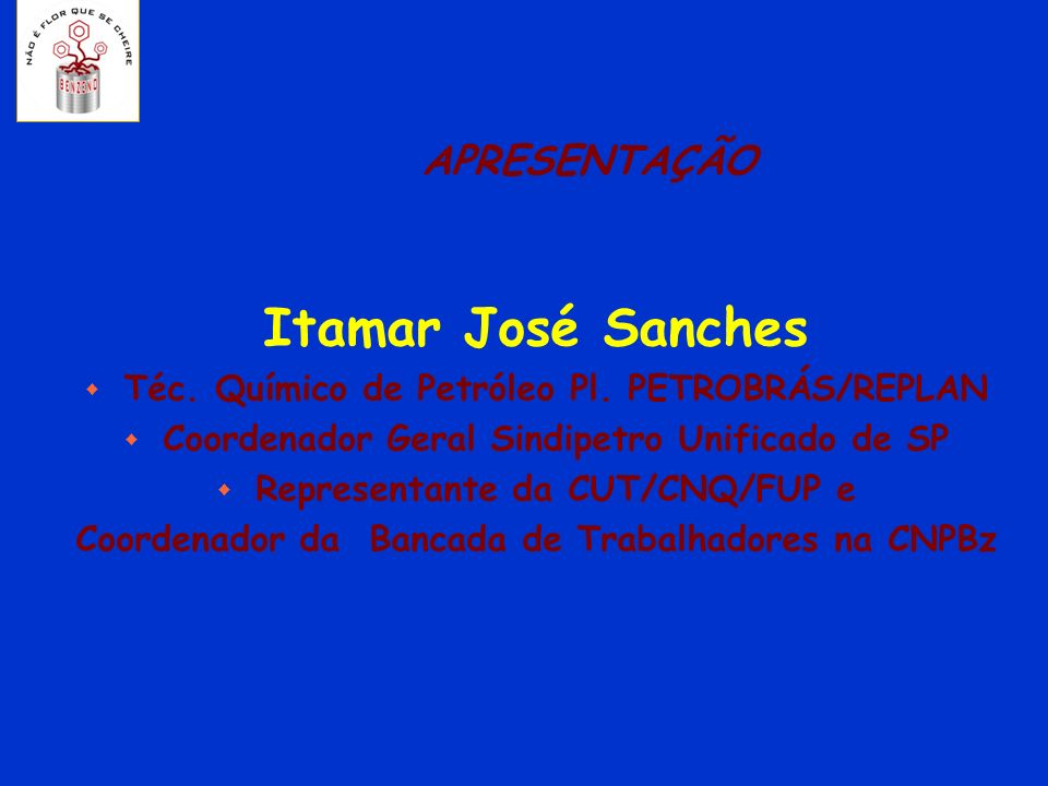 Itamar José Sanches APRESENTAÇÃO