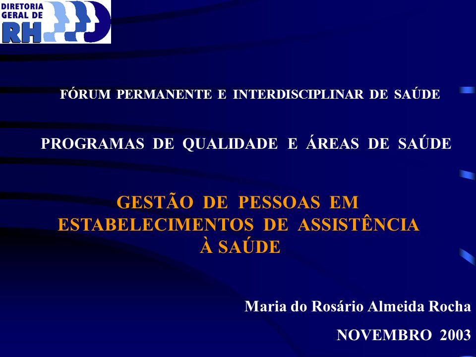 GESTÃO DE PESSOAS EM ESTABELECIMENTOS DE ASSISTÊNCIA