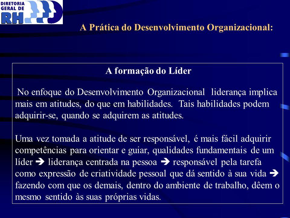 A Prática do Desenvolvimento Organizacional: