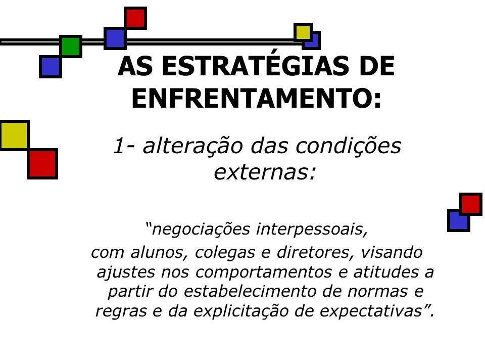 AS ESTRATÉGIAS DE ENFRENTAMENTO: