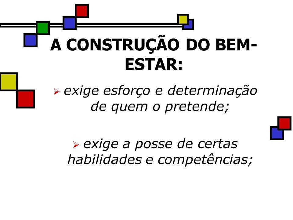 A CONSTRUÇÃO DO BEM-ESTAR: