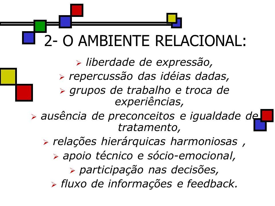 2- O AMBIENTE RELACIONAL: