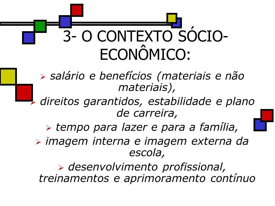 3- O CONTEXTO SÓCIO-ECONÔMICO: