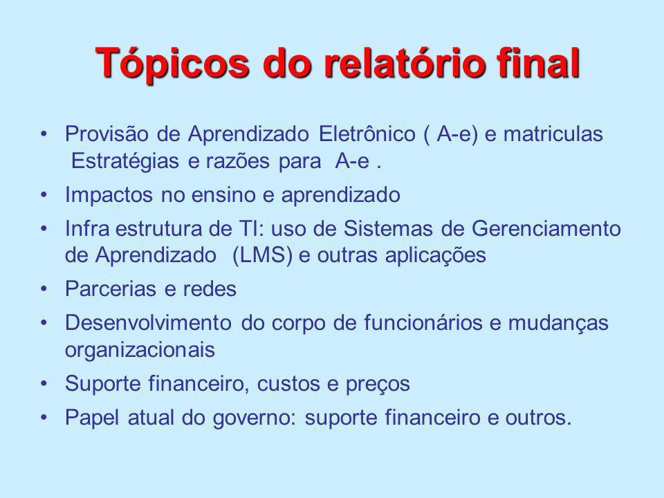 Tópicos do relatório final