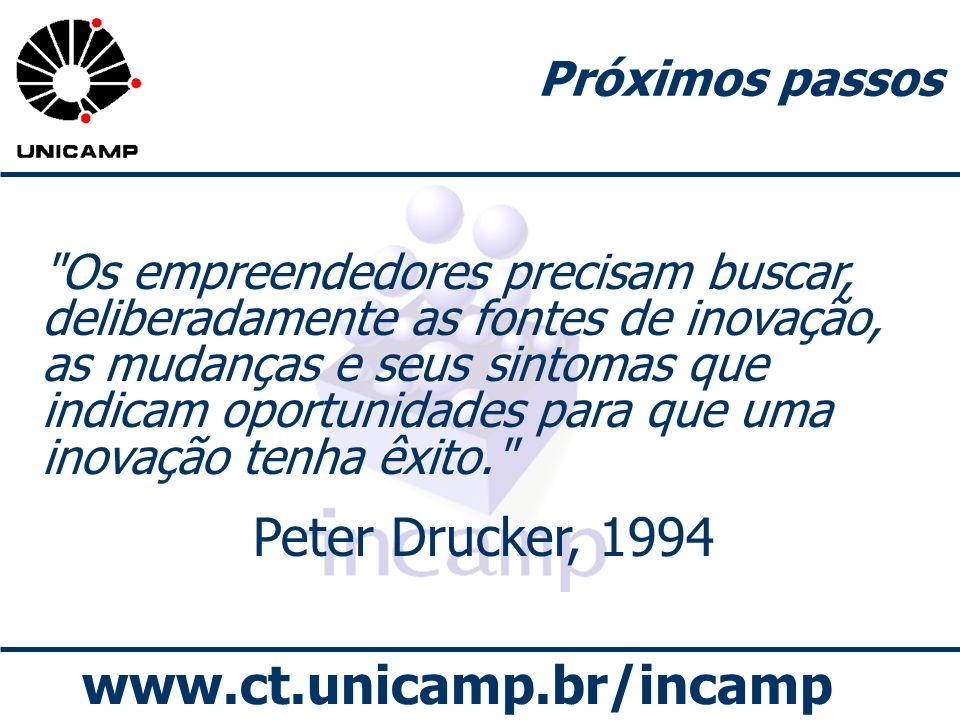 Peter Drucker, 1994 Próximos passos