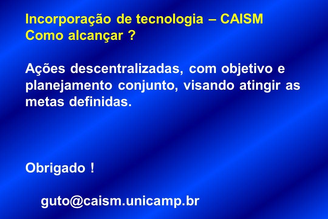 Incorporação de tecnologia – CAISM