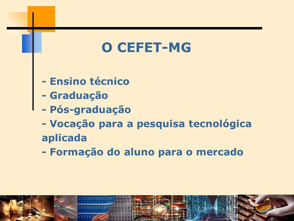 O CEFET-MG - Ensino técnico - Graduação - Pós-graduação