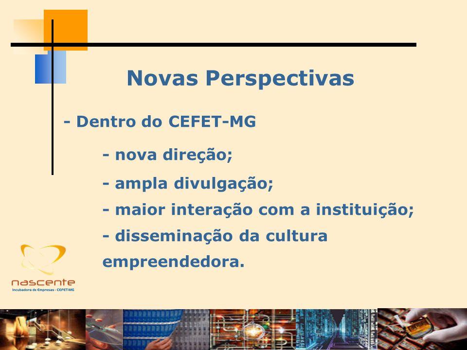 Novas Perspectivas - Dentro do CEFET-MG - nova direção;