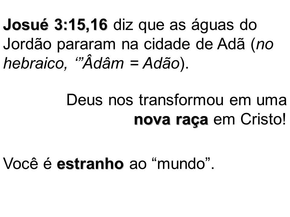 Josué 3:15,16 diz que as águas do Jordão pararam na cidade de Adã (no hebraico, ' Âdâm = Adão).