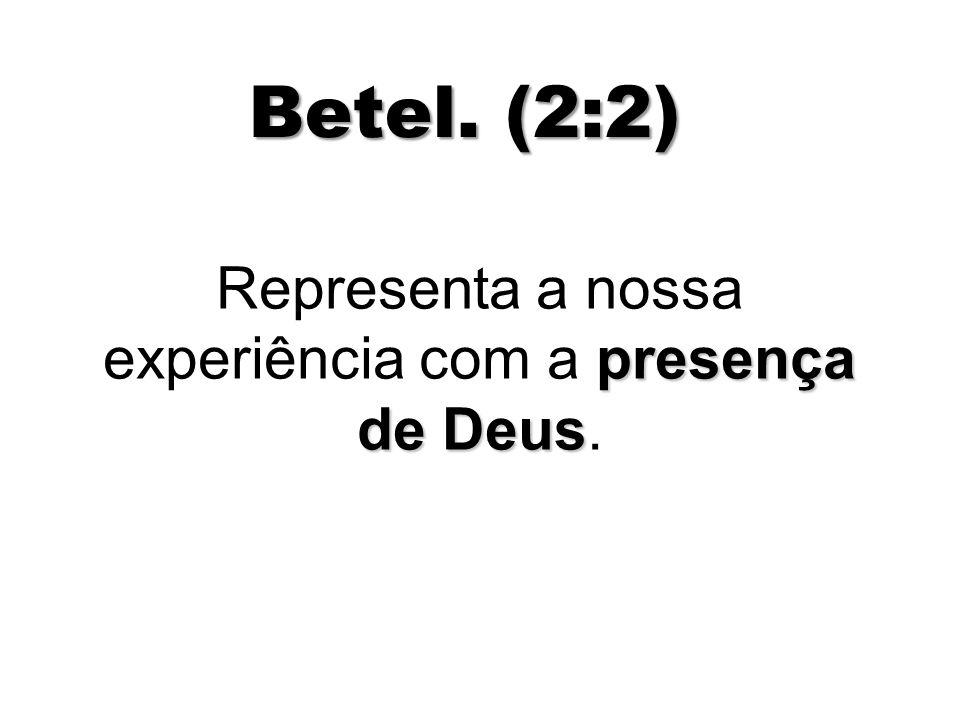 Representa a nossa experiência com a presença de Deus.