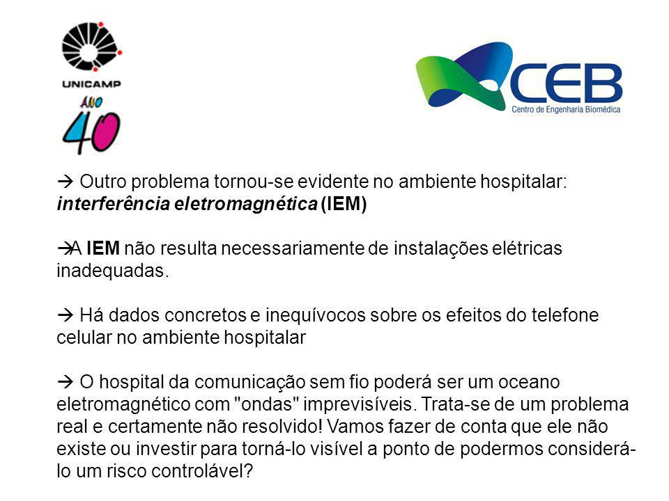  Outro problema tornou-se evidente no ambiente hospitalar: interferência eletromagnética (IEM)