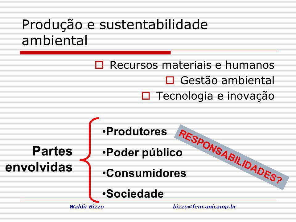 Produção e sustentabilidade ambiental