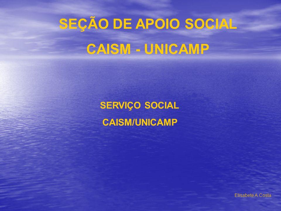 SEÇÃO DE APOIO SOCIAL CAISM - UNICAMP