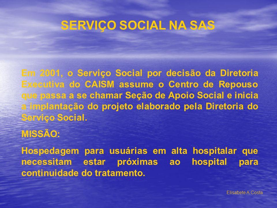 SERVIÇO SOCIAL NA SAS