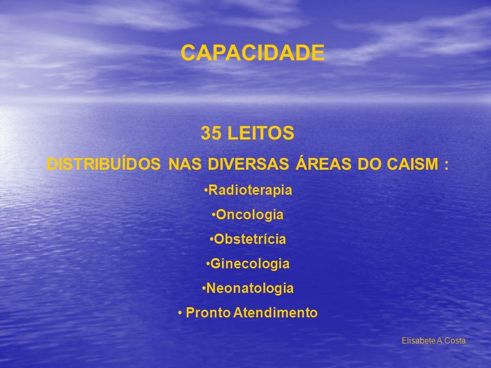 DISTRIBUÍDOS NAS DIVERSAS ÁREAS DO CAISM :