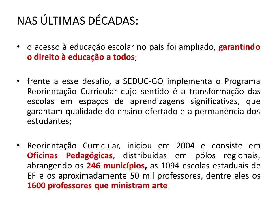 NAS ÚLTIMAS DÉCADAS: o acesso à educação escolar no país foi ampliado, garantindo o direito à educação a todos;