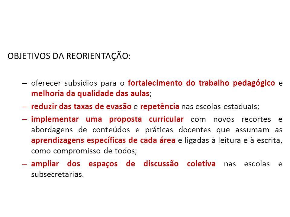 OBJETIVOS DA REORIENTAÇÃO: