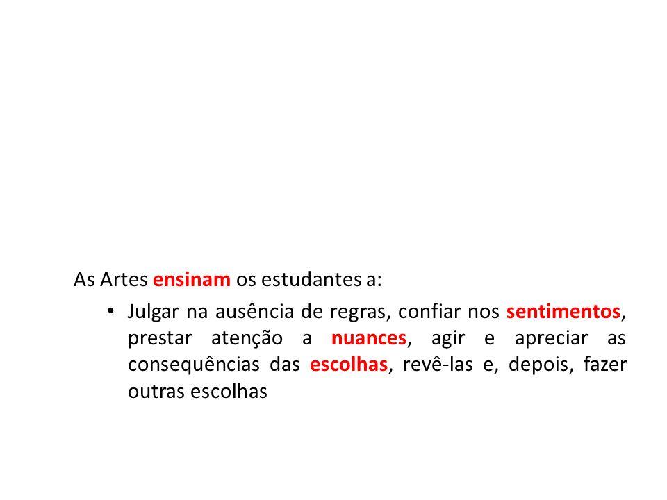 As Artes ensinam os estudantes a: