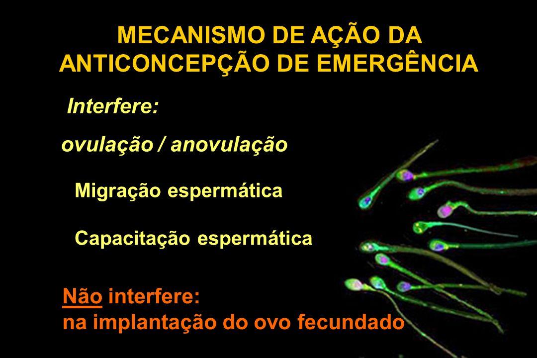 MECANISMO DE AÇÃO DA ANTICONCEPÇÃO DE EMERGÊNCIA