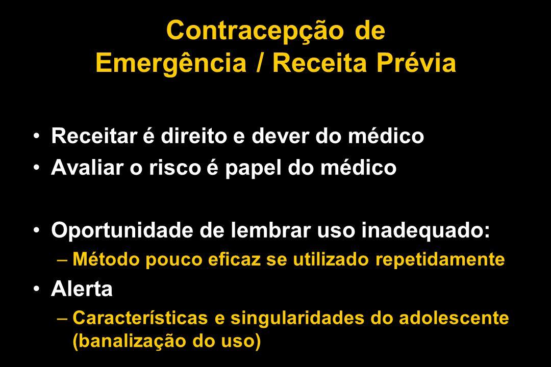 Contracepção de Emergência / Receita Prévia