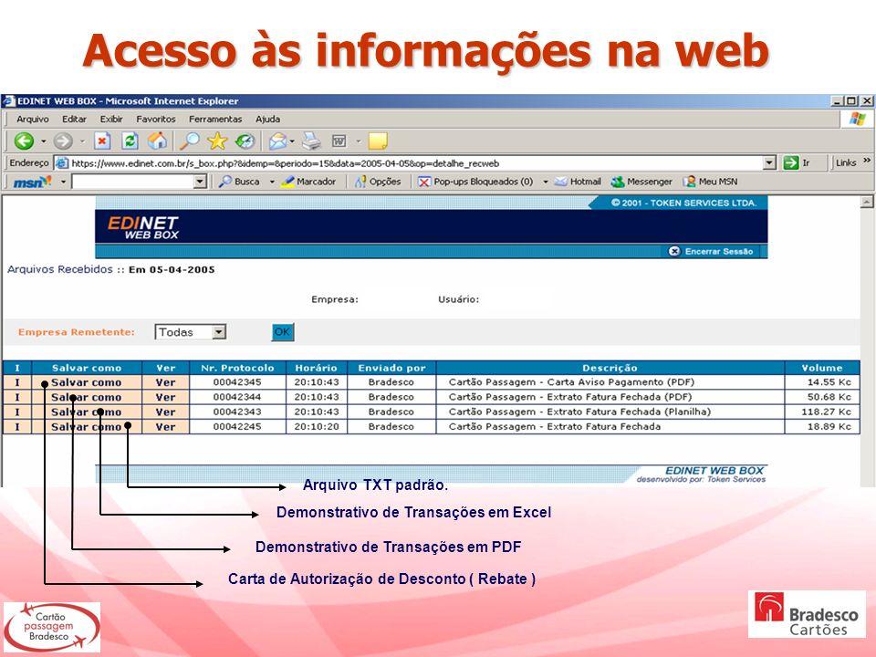 Acesso às informações na web