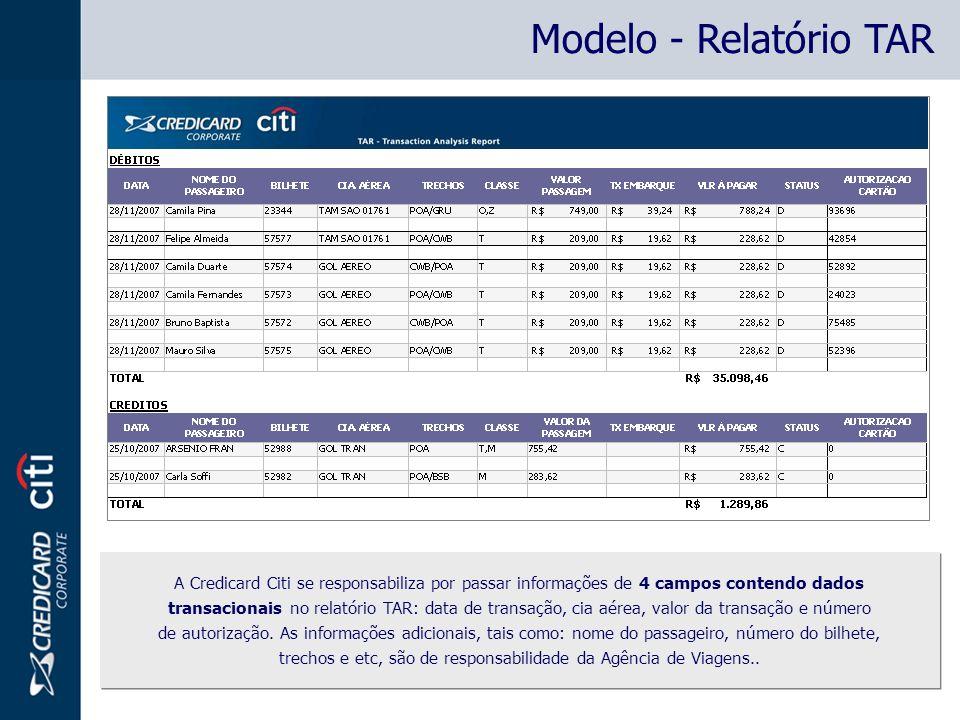 Modelo - Relatório TAR