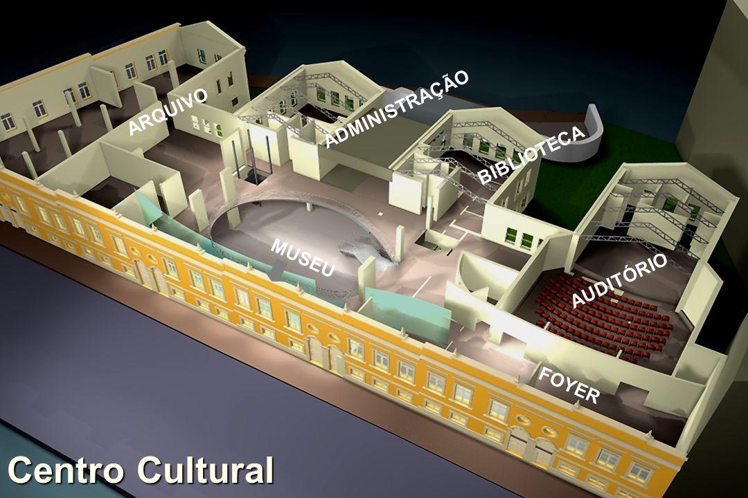 ARQUIVO ADMINISTRAÇÃO BIBLIOTECA MUSEU AUDITÓRIO FOYER Centro Cultural